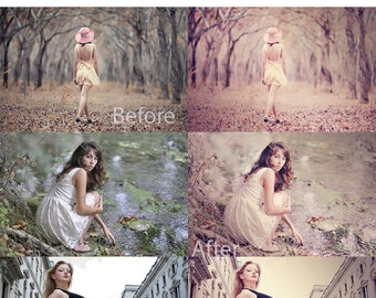 INSTANT DOWNLOAD Soft Honey and Rose Photoshop Action