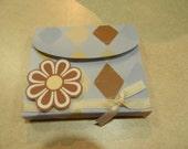 Brown Flower Covered Memo Pad