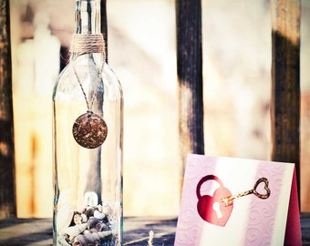 "Message In A Bottle ""STRANDED"" Personalized Gift"