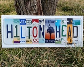 HILTON HEAD Island hh hhi Custom Recycled LICENSE Plate Art Sign
