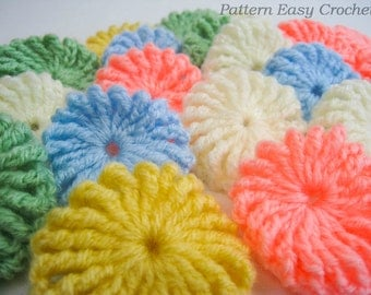 Crochet pattern yo-yo puff baby blanket - gift for newborn - instant download