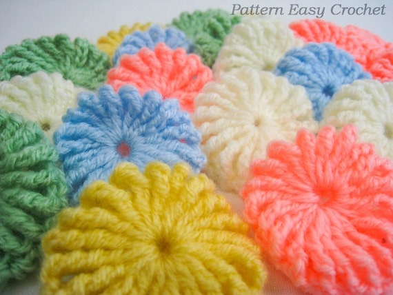 Crochet Tutorial Yo-Yo Puff : Crochet pattern yo-yo puff baby blanket - gift for newborn - instant ...
