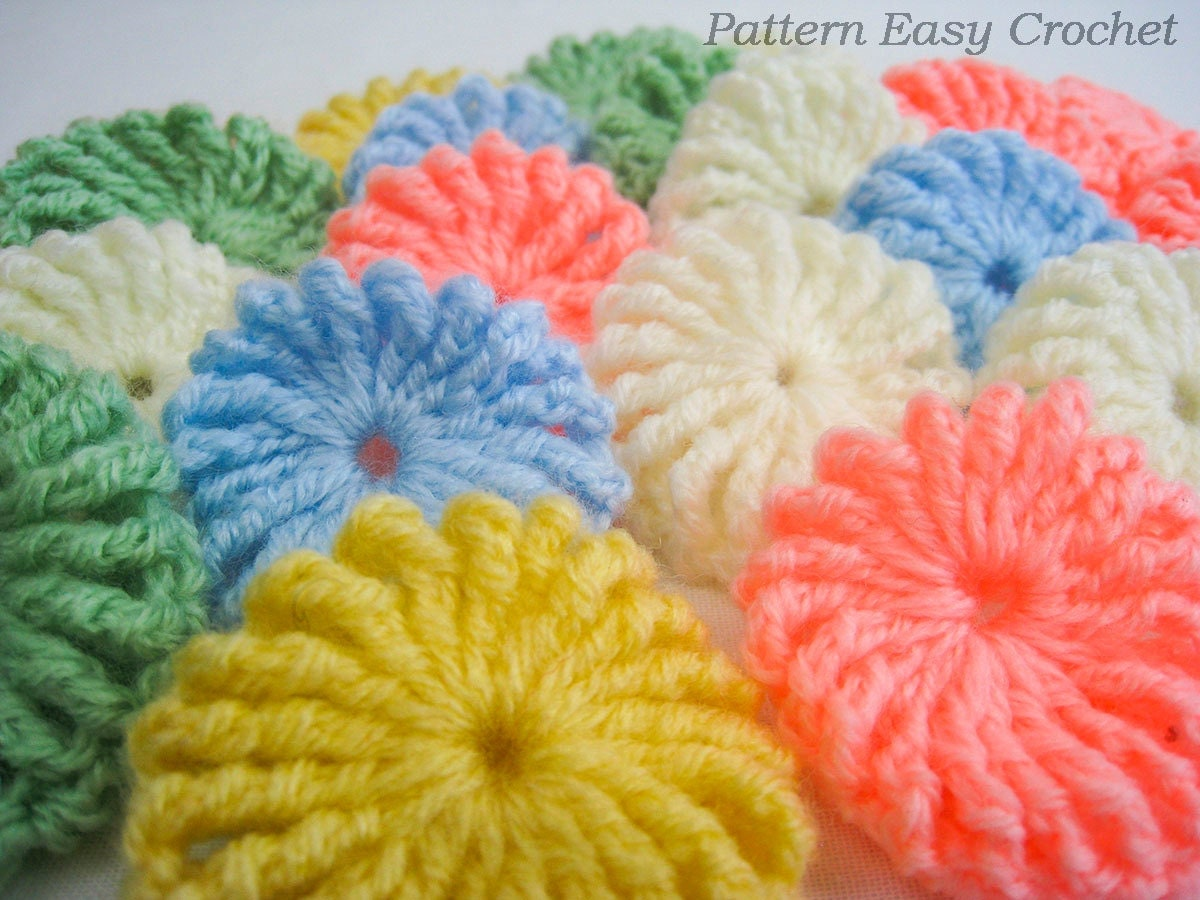 Crochet pattern yo-yo puff baby blanket - gift for newborn ...