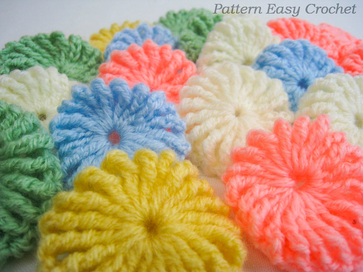 Crochet Yoyo Patterns : Crochet pattern yo-yo puff baby blanket gift for newborn