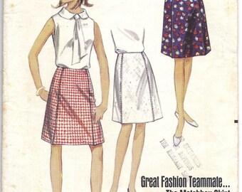 1960s Butterick 4433 Skirt Pattern, Waist 25