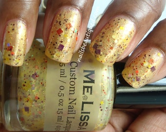 Rome Wasn't Built in a Daisy - Spring Time Custom Glitter Nail Polish / Lacquer Full Size 15 ml / 0.5 oz Bottle