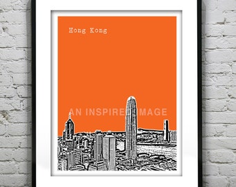 Hong Kong Poster China Art Print Skyline