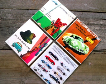 Porsche-Advertising-Ceramic Coaster-Handmade-FREE SHIPPING