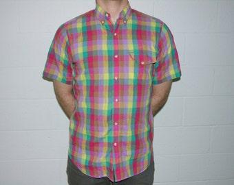 S/S Summer Plaid Shirt - medium