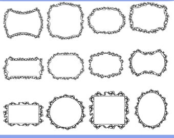 scalloped circle frames clip art 077 photo decoration