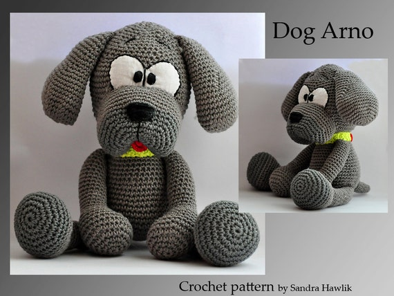 Crochet Patterns English : crochet pattern amigurumi dog pdf English by MOTLEYCROCHETCREW