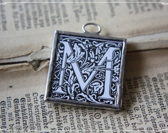 """soldered Charm with letter """"M"""""""