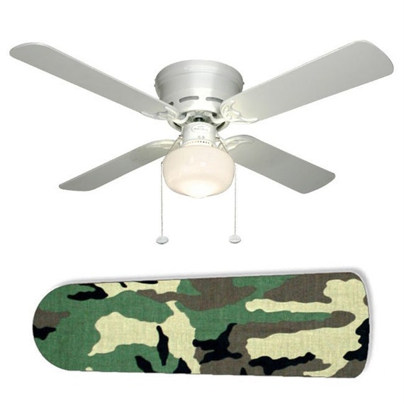 Camouflage Ceiling Fans Cool Green Camouflage 52in Ceiling