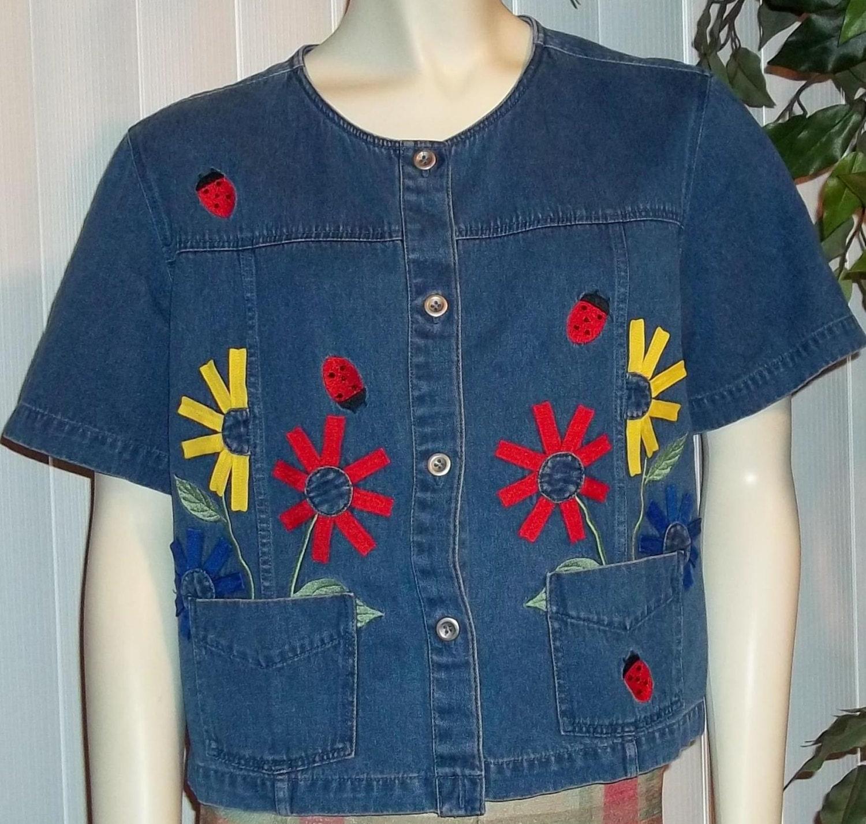 vintage lady bug vest