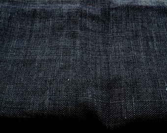 Black Burlap Fabric - Quarter Yard fabric - 100 percent natural burlap - Jute - Hessian-we take wholesale fabric orders-Quarter yard