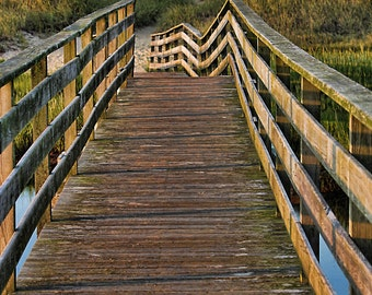 Cape Cod Photography Ridgevale Beach Bridge Walkway, Chatham, MA