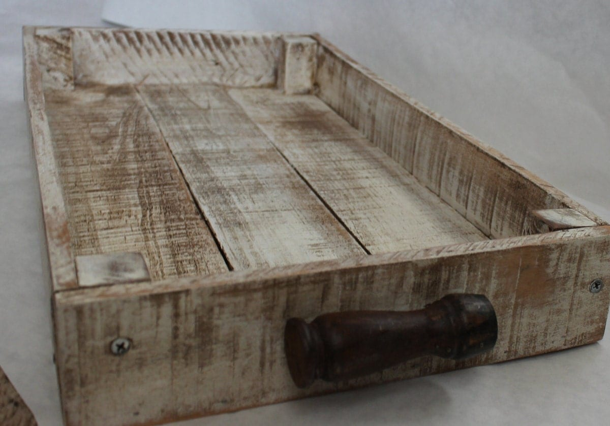 shabby reclaimed wood serving tray by beyondapicketfence on etsy. Black Bedroom Furniture Sets. Home Design Ideas