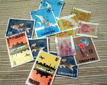 Postage Stamps from Singapore Mix-16