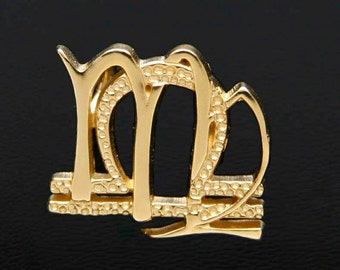 52 Virgo and Libra Gold Unity Pendant