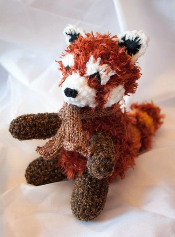 Rufus the Snuggly Plush Amigurumi Red Panda Crochet Pattern