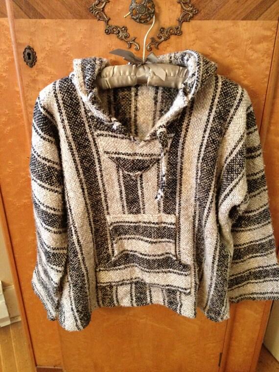 Vintage Baja Hoodie Drug Rug Pullover