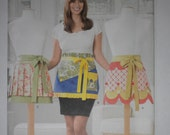 Simplicity 2161 Apron Pattern Ladies Apron Pattern Womens Apron Pattern Pleated Scalloped Ruffles