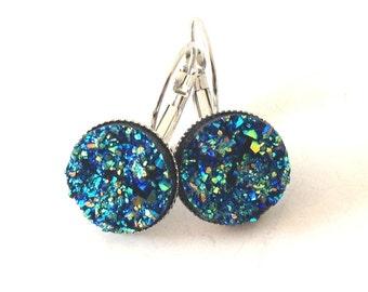Atlantis - blue green Earrings