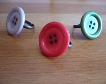 Adjustable ring with snap-Adjustable Ring with Button