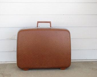 Vintage Rust Orange Brown Medium Samsonite Suitcase / Luggage & Minimalist suitcase   Etsy