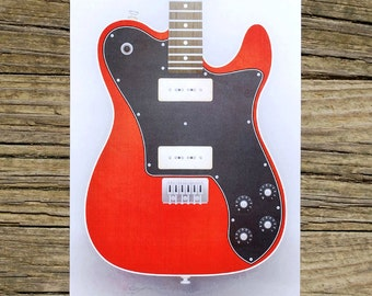 SALE!!! - Fender Telecaster Deluxe P90 Guitar Limited Run Print - Hand Numbered