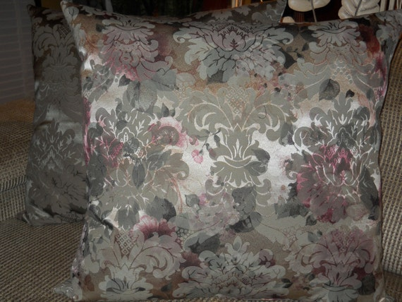 Victorian Tapestry Pillows : Items similar to Tapestry Pillow, Elegant French Victorian Pillow, Formal French Pillow ...