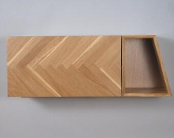 Herringbone Wall Cabinet