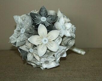 Unique Bridesmaid Bouquet Paper Wedding Flowers