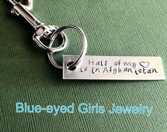 Half of My Heart is in Afghanistan Keychain