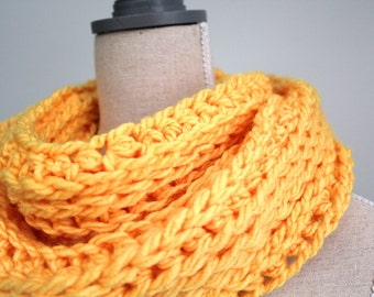 bright yellow infinity scarf,yellow eternity scarf,yellow winter scarf,canary yellow,yellow scarf winter,yellow wool scarf,circle scarf loop