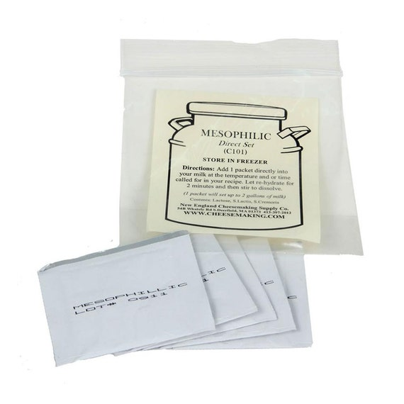Artisan DIY Cheese Making Mesophilic Cheese Cultures 5 Pack