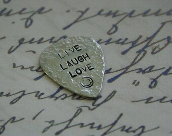 Father's Day Gift, Guitar Pick, Live Laugh Love, Personalized Guitar Pick, Men Gift, Anniversary Gifts for Men, Boyfriend Gift, His And Hers