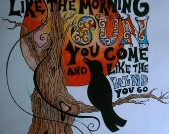 Grateful Dead Song Lyric Art Print
