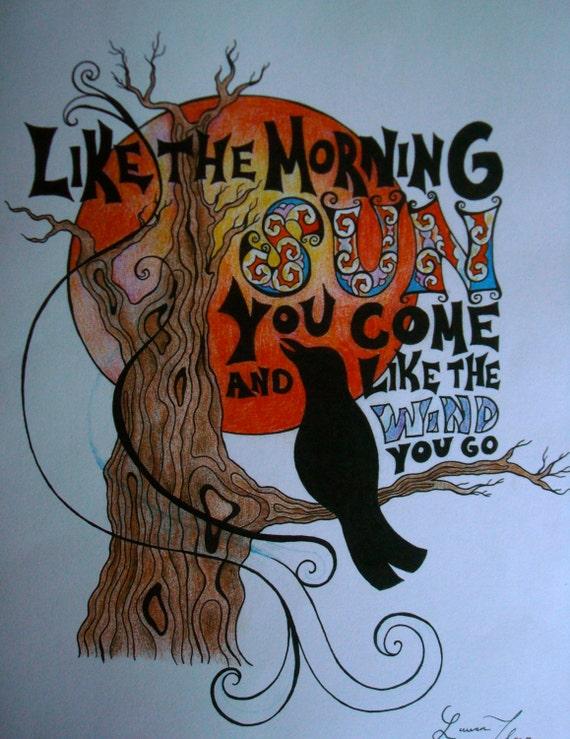 Grateful Dead Songs : grateful dead song lyric art print ~ Russianpoet.info Haus und Dekorationen