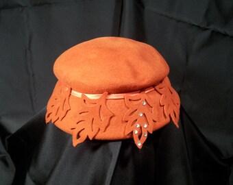 Vintage Glenover Henry Pollak Pumpkin Hat