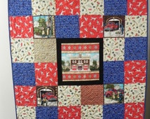 Unique Fireman Quilt Related Items Etsy