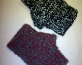 Custom Knit Fingerless Mittens Mitts Wristers Hobo Gloves Wrist Warmers Texting Gloves