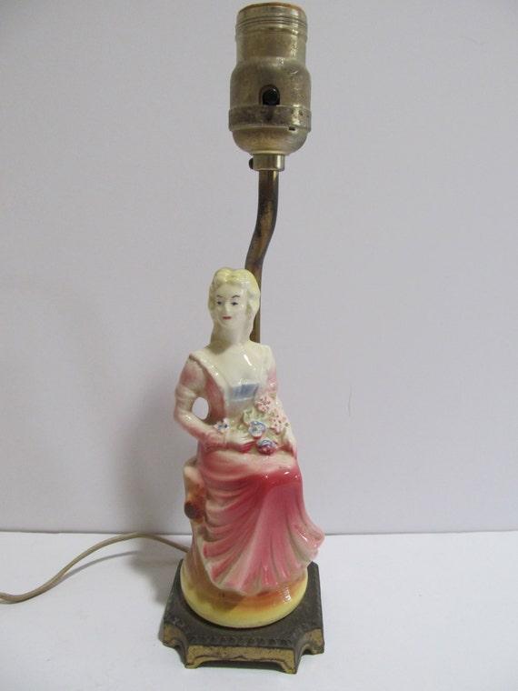Vintage Figurine Lamp Lamps Vintage Lamps Porcelain Lamps