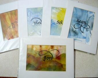 Five Elements Set: air, fire, water, earth, sun