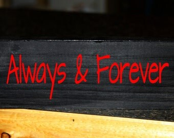 Always & Forever wood block decor
