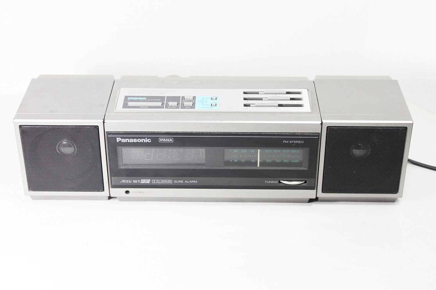 Vintage Panasonic Stereo Digital Clock Radio Rc X310