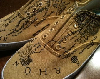 Tolkien Inspired Hand Painted Shoes
