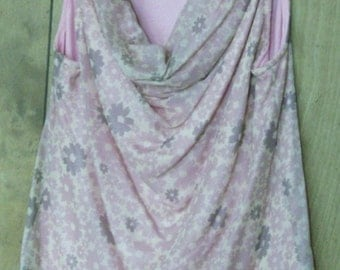 Dusty Pink Cowl Neck Sleeveless Top