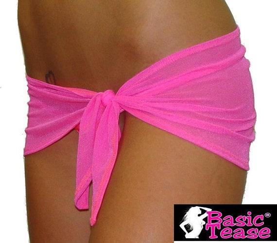 Micro Mini Mesh Stripper Sarong For Exotic Dancers