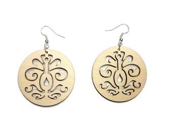 Wooden Jewellery - Plain wooden earrings